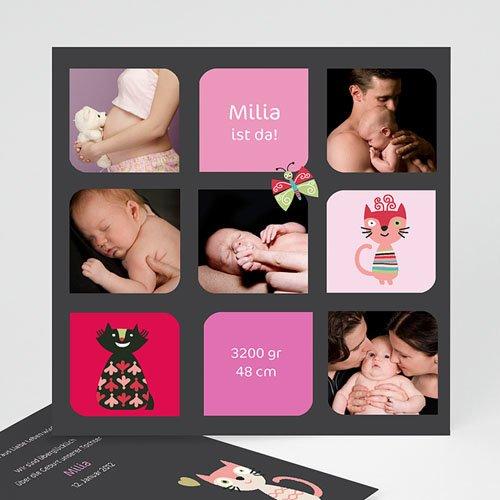 Geburtskarten für Mädchen - Kätzchen 2496