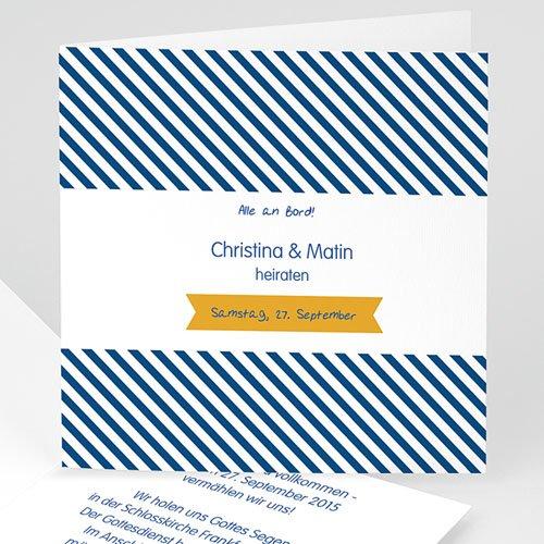 Hochzeitseinladungen modern - Air Marin 24970