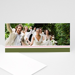 Danksagungskarten Hochzeit  - Hochzeitskarte Frühling - 1
