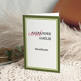 Menükarten Hochzeit  - Hochzeitskarte Frühling - 1