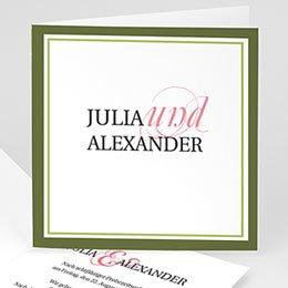 Hochzeitseinladungen modern - Hochzeitskarte Frühling - 1