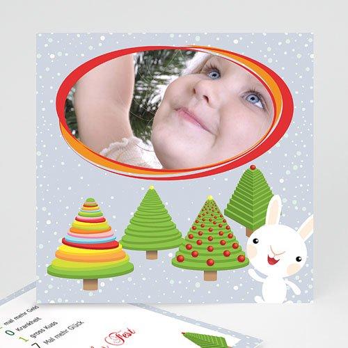 Weihnachtskarten - Weihanchtskarte Tannenbäume 2640