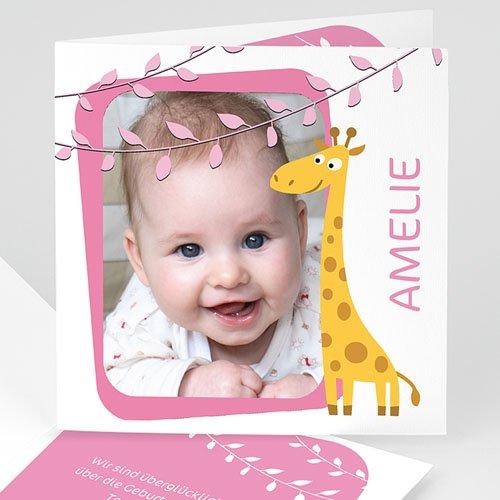 Geburtskarten für Mädchen - Geburtskarte Amelie 2688