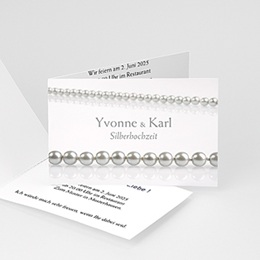 Silberhochzeit und goldene Hochzeit  - Hochzeitskarte - 1