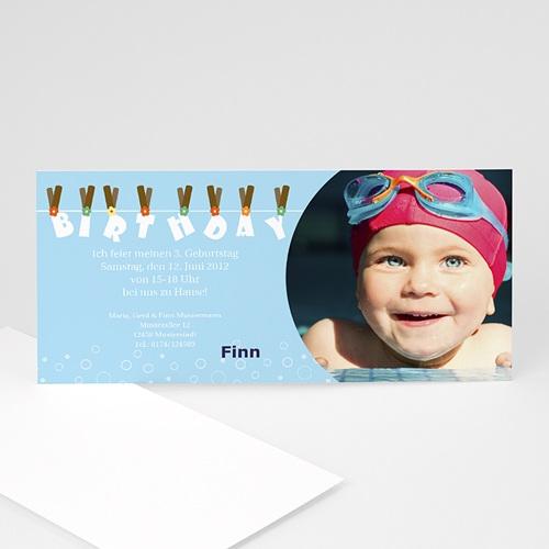 Geburtstagseinladungen Jungen - Geburtstagskarte 2 2814