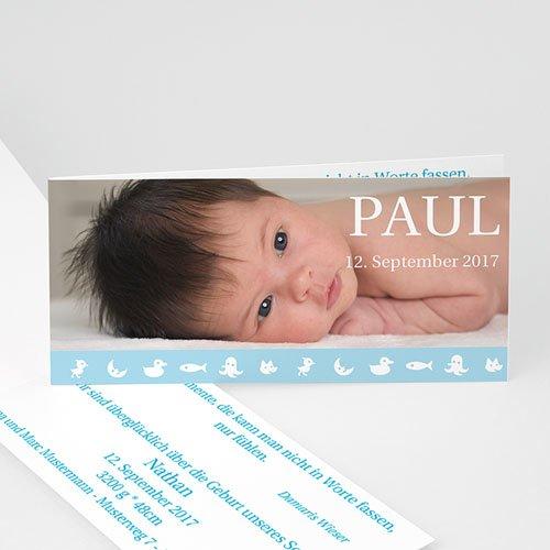 Babykarten für Jungen - Geburtskarte Paul 2864
