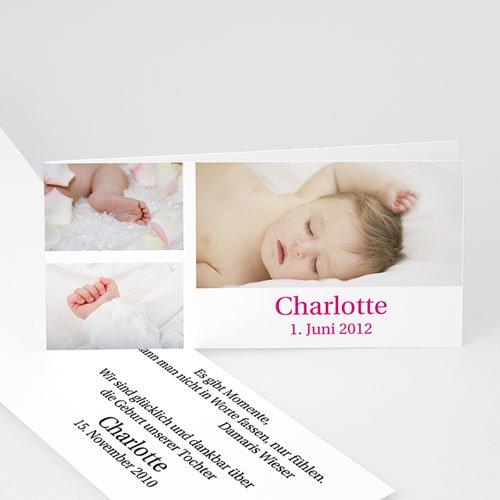 Geburtskarten für Mädchen - 3 Fotos 2868