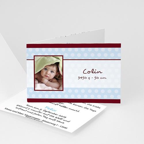 Babykarten für Jungen - Zartes Blau 2886