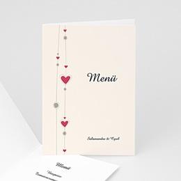 Menükarten Hochzeit  - Hochzeitskarte Paris - 1