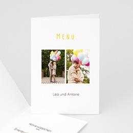 Menükarten Hochzeit  - Hochzeitskarte Venedig - 1