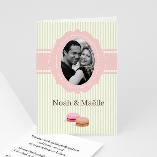 Hochzeitseinladungen modern - Hochzeitskarte süss 3080