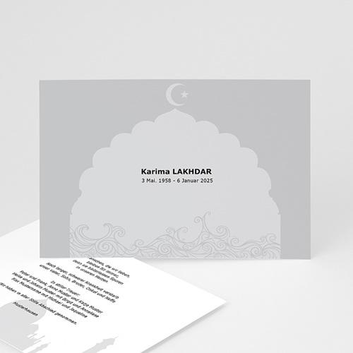 Trauer Danksagung muslimisch - Muslimische Trauerkarte 3152