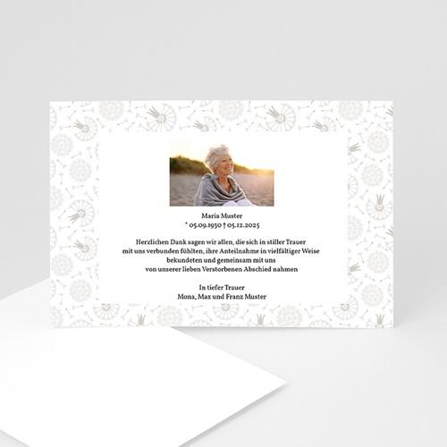 Trauer Danksagung weltlich - Universelle Trauerkarte 1 3184