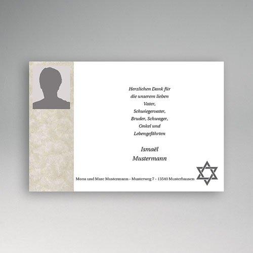 Trauer Danksagung israelitisch - Yahrzeit 3204