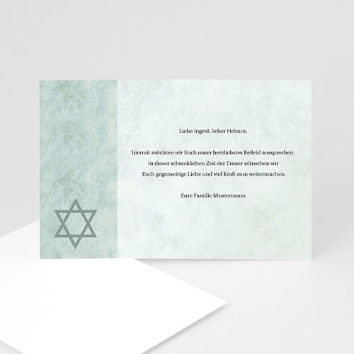 Trauer Danksagung israelitisch - Trauerkarte 2 3208