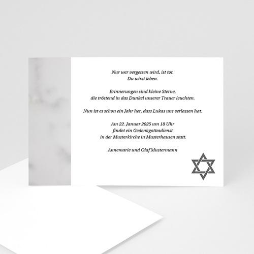 Trauer Danksagung israelitisch - Trauerkarte 1 3212