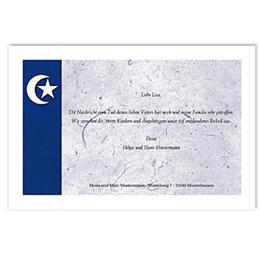 Trauer Danksagung muslimisch - Violette Mondsichel - 1