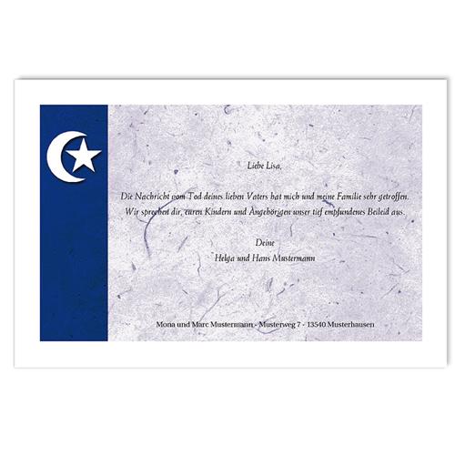 Trauer Danksagung muslimisch - Stern und Mond 3248