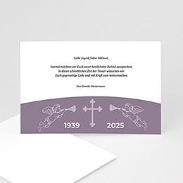 Trauer Danksagung christlich - Trauerkarte - 1