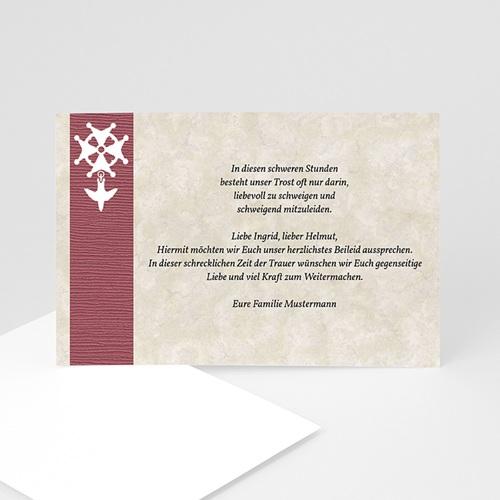 Trauer Danksagung christlich - Kreuz  3288