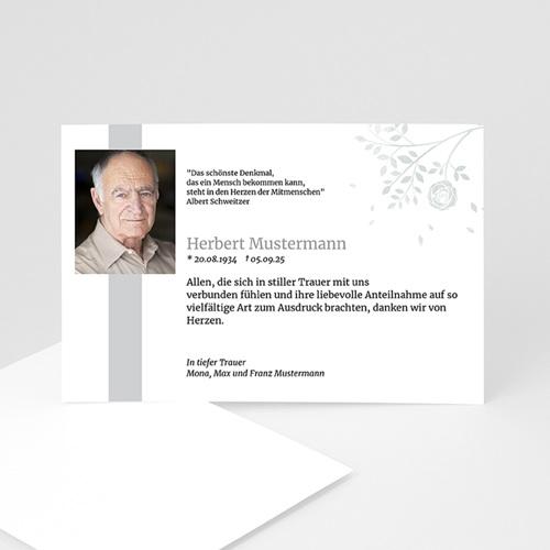 Trauer Danksagung weltlich - Schlichte Trauerkarte 3312