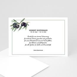 Trauer Danksagung weltlich - Olivenzweig - 1