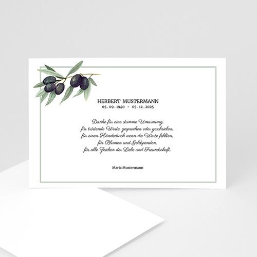 Trauer Danksagung weltlich - Olivenbaum 3320