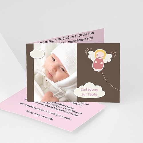 Einladungskarten Taufe Jungen  - Taufkarte Max 3340