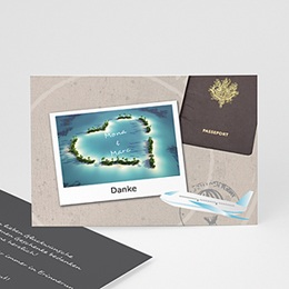 Danksagungskarten Hochzeit  - Urlaubsreise - 1
