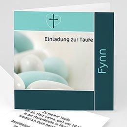 Einladungskarten Taufe Jungen  - Taufkarte - 1