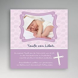 Einladungskarten Taufe Mädchen - Taufkarte - 1