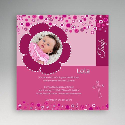 Einladungskarten Taufe Mädchen - Jonas - Taufe  3392