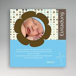 Einladungskarten Taufe Jungen  - Taufkarte Fynn - 1