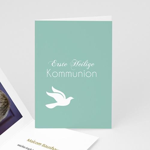 Einladungskarten Kommunion Jungen - Blickfang Taube  3416