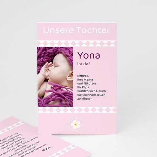Geburtskarten für Mädchen - Liebe ohne Grenzen - Rosa 3448