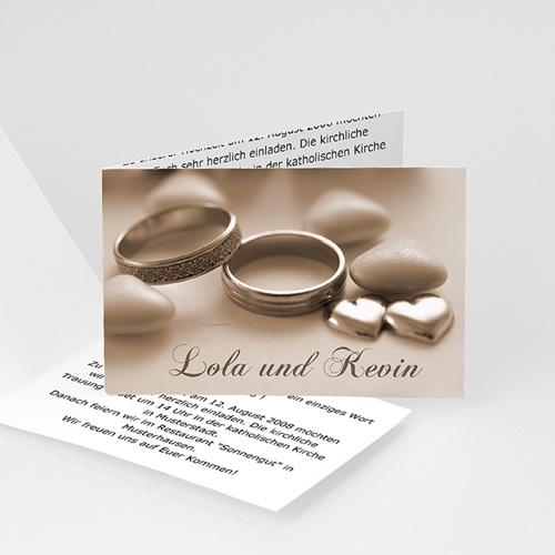 Hochzeitseinladungen modern - Der Klassiker 3464