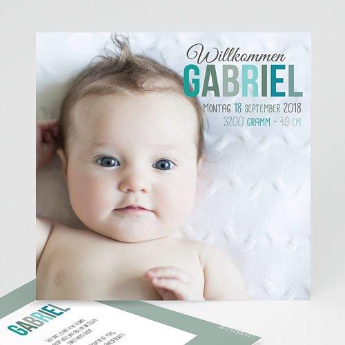 Babykarten für Jungen - Willkommen 35037