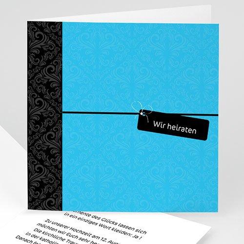 Hochzeitseinladungen modern - Hochzeitskarte Joli 3504