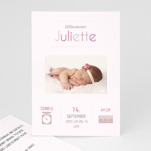 Geburtskarten für Mädchen - Rose chic 35046