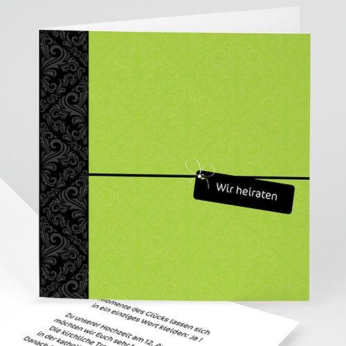 Hochzeitseinladungen modern - Hochzeitskarte Jalla 3508