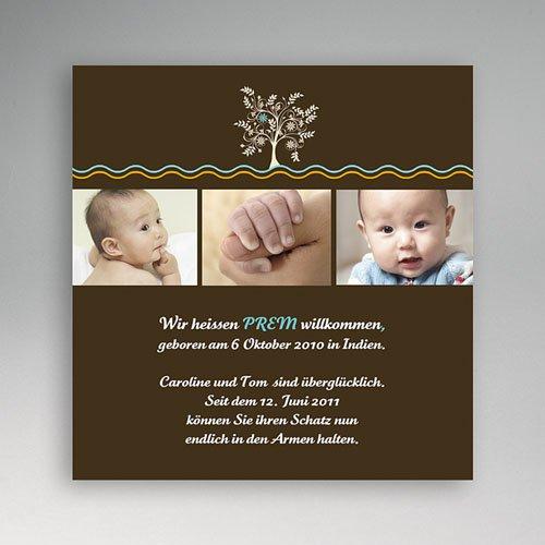 Adoptionskarten für Jungen - Adoption braun Baum 1 3544