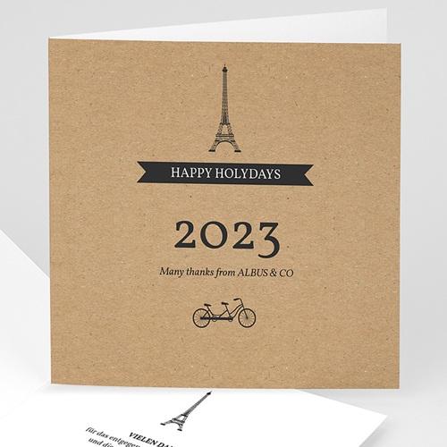 Weihnachtskarten - Paris Craft 35506