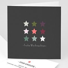 Weihnachtskarten - Sterne - 1