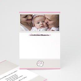 Adoptionskarten für Mädchen - Adoption zartrosa und grau - 1