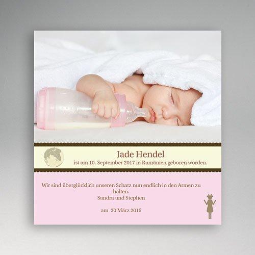 Adoptionskarten für Mädchen - Adoption - Rosa 3604