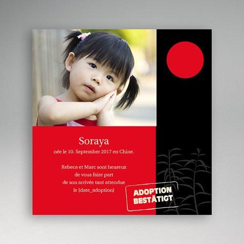 Adoptionskarten für Mädchen - Adoption Asien 3612