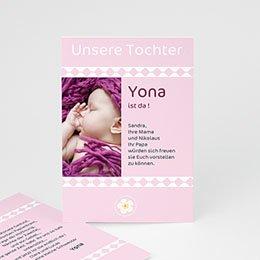Adoptionskarten für Mädchen - Liebe ohne Grenzen - 1