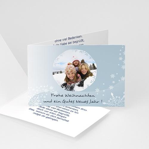 Weihnachtskarten - Wünsche Blau Grau 3636