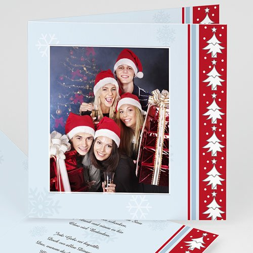 Weihnachtskarten - Tannenbaumfriese 3648