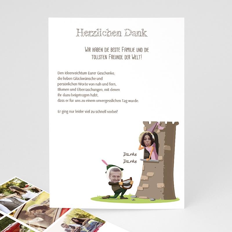 Danksagungskarten Hochzeit - Mittelalter  Carteland.de